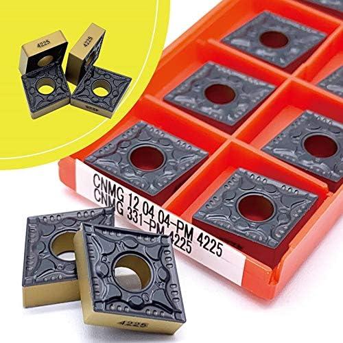 WITHOUT BRAND CNMG120404 CNMG120408 PM 4225 Außendrehwerkzeuge Hartmetalleinsatz CNMG 120404 Wendeschneid Wolframkarbid (Farbe : CNMG 120404 PM 4225, Größe : 50pcs)