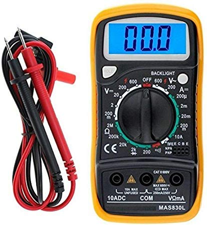 SCHOFIC Digital LCD Pocket Multi Meter/AC-DC Voltage/with Back Light (Yellow) Price & Reviews