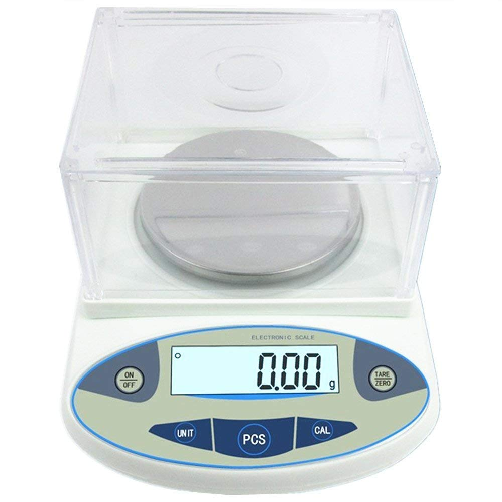 3000g x 0.01g Lab Analytical Balance Scale, MOCCO 10 mg High Precision Electronic Scientific Scale Accuracy Weighs Laboratory Instrument with 500g Calibration Weight, Adapter for Laboratories School by MOCCO (Image #3)