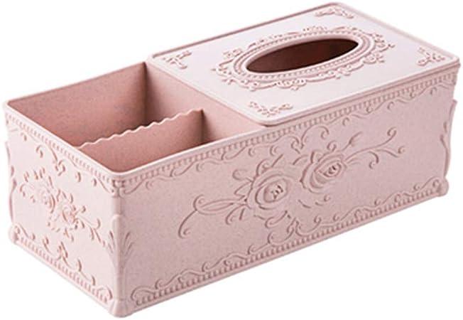 Caja De Pañuelos Piel Caja Porta Toallitas Faciales Caja De Madera Para Pañuelos Cubo Dispensador De Papel Servilletas De Pañuelos Para La Oficina En Casa, Decoración De Coche Automotive/1.9: Amazon.es: Hogar