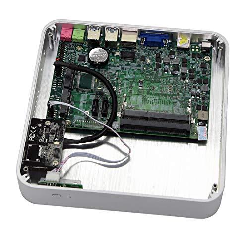 Kingdel Windows 10 Home Computer, Fanless HTPC with intel i5-4200U CPU, 4GB  RAM, 64GB SSD, HDMI, VGA, 4*USB 3 0, WiFi, Metal Case