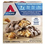 Atkins Snacks Bars, Caramel Chocolate Nut Roll, , 8g Protein, 2g Sugar, 5 Count