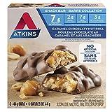 Atkins Snacks Bars, Caramel Chocolate Nut Roll, , 8g Protein, 2g Sugar, 5 Count