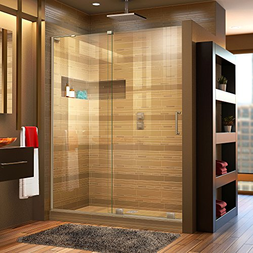 "DreamLine Mirage-X 44-48 in. Width, Frameless Sliding Shower Door, 3/8"" Glass, Brushed Nickel Finish"