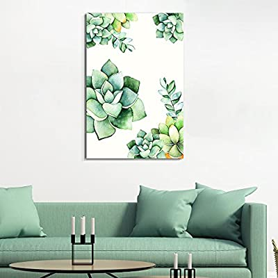 Quality Creation, Charming Technique, Succulent Plants Series Watercolor Succulents Plants on White Background