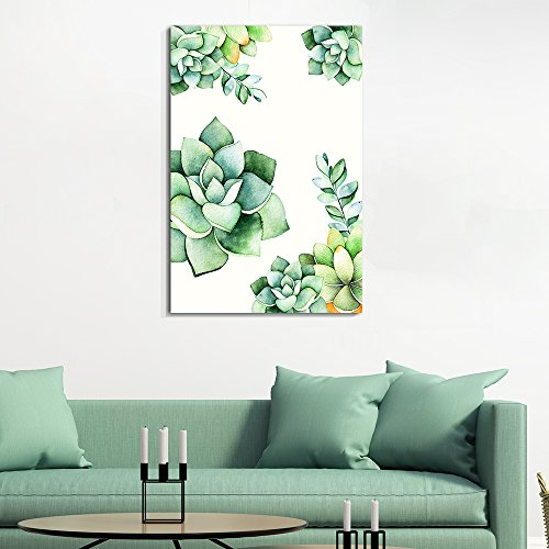 Succulent Plants Series Watercolor Succulents Plants on White Background