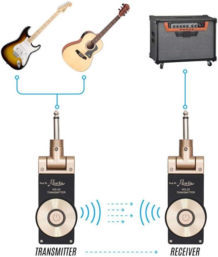 SinceY Guitarra Electroacústica Receptor, 2.4GHz Receptor ...