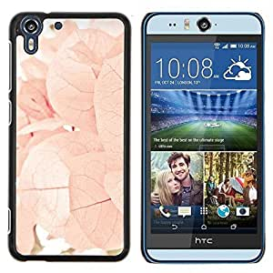 Stuss Case / Funda Carcasa protectora - Otoño Primavera Flores Hojas Rosa - HTC Desire Eye ( M910x )