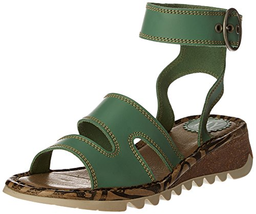 FLYA4|#Fly London Tily722fly, Heels Sandals para Mujer Verde (Mint 008)