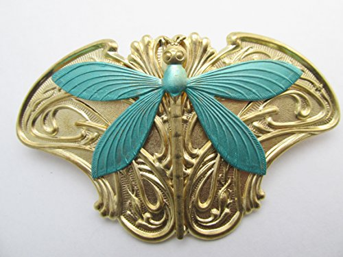 Price comparison product image Dragonfly Hair Clip Art Nouveau Angelina Verbuni Designs Made in America Hair Clips Dragonfly Barrette