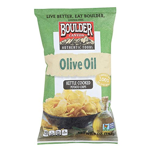 Olive Oil Totally Natural Kettle Potato Chips, 5 Ounce - 12 per case.