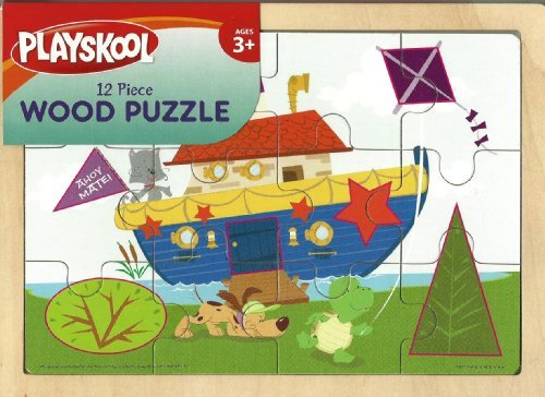 - Playskool Wooden Fun Boat Puzzle - 12 Pieces with Frame