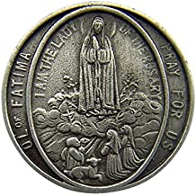 Fine Pewter Catholic Patron Saint Lapel Pin Pendant, 1 Inch