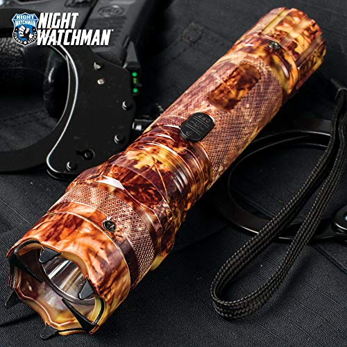 K EXCLUSIVE Night Watchman 2 Million-Volt Stun Gun/LED Flashlight Combo Defense Tool - Orange Camo