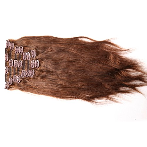 Wleec-Beauty-Chocolate-Brown-Grade-6A-Brazilian-Virgin-Hair-Straight-Clip-in-Hair-Extensions-10-Pieces-160g-Unprocessed-100-Human-Hair-4-Color