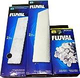 Fluval A492 Poly/Carbon+A488 Foam Pad+A495 Biomax U4 Filter media set (A492 Poly/Carbon+A488 Foam+A495 BioMax U4 media)