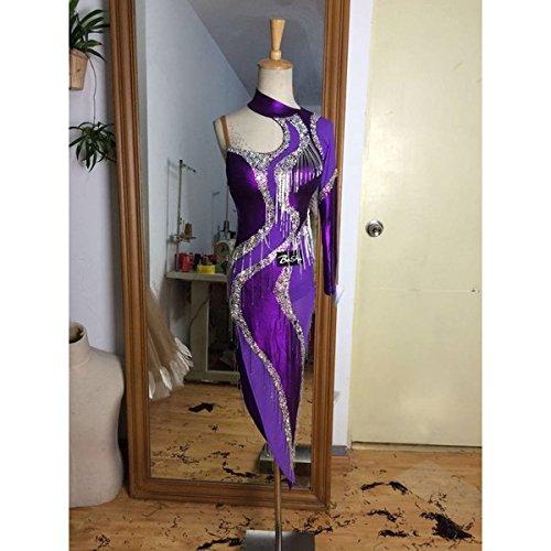 社交ダンス用スタンダードドレス セミオーダー可能 [DN-B-23] 正規品 B0163T19BA カラーチャートから指定 20ヶ所採寸