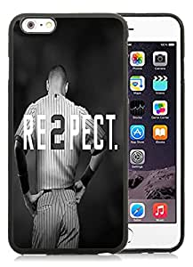 For iPhone 6 Plus,100% Brand New Derek Jeter RE2PECT New York Yankees Black For iPhone 6 Plus(5.5) TPU Case