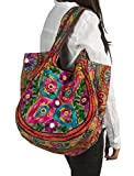 TribeAzure Brown Handmade Floral Shoulder Bag Women Fashion Handbag Tote Casual Summer Spring Top Handle