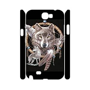 C-EUR Wolf Dream Catcher Customized Hard 3D Case For Samsung Galaxy Note 2 N7100