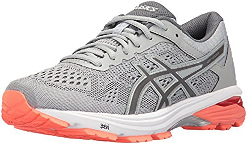 Asics Gt-1000 6 Scarpe - Da Donna Mid Gray / Carbon / Flash Corallo