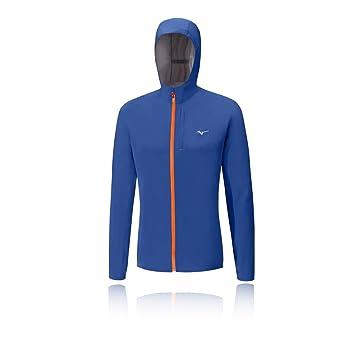 Mizuno Waterproof20K Chaqueta Impermeable, Hombre, Azul Marino (Nautical Blue/clownf), M: Amazon.es: Deportes y aire libre
