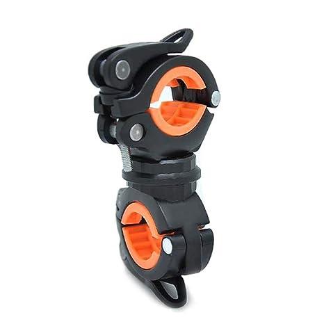 Candyboom Bicicleta Universal LED Soporte para Montaje en Linterna Rotaci/ón 360 /° Soporte Doble Linterna Delantera Bomba Soporte para Manillar Bicicleta Accesorio