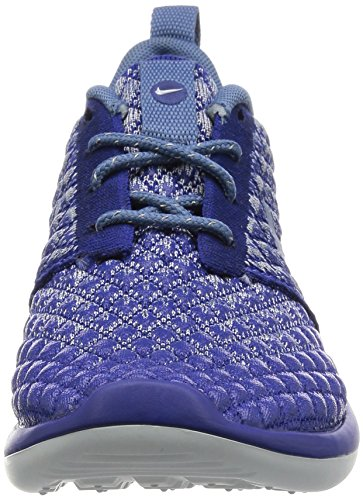Nike W Roshe Deux Flyknit 365 Femmes Espadrille Bleu 861706 400 6 Bleu Royal Profond / Brouillard Océan