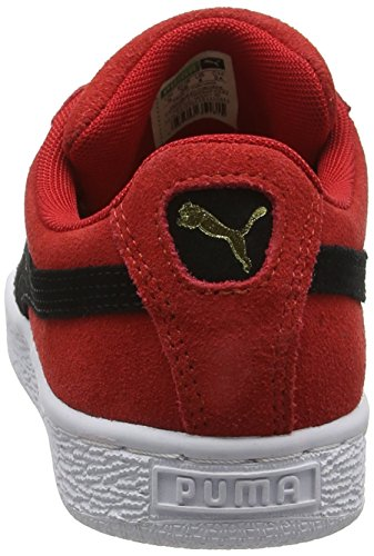 puma Basse Adulto Sneaker Unisex Classic Rosso Suede Red Ribbon White 30 – Black puma Puma Ztqp7x