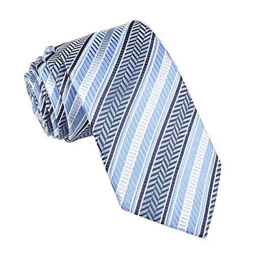 (VOBOOM 100% Silk Necktie Men Woven Ties Standard Length, Extra Long, 10 Styles (308, Extra Long 63