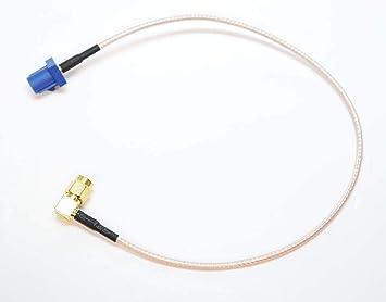 Autodily - Fakra C Macho a 90 Grados Sma Macho Conector RG316 Cable Antena GPS Adaptador