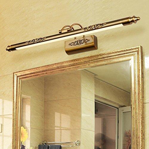 Bathroom Wall Spotlight - 50CM Bathroom Mirror Lamp Waterproof Retro Bronze Cabinet Mirror Lighting Led Wall Light Lamp , warm light