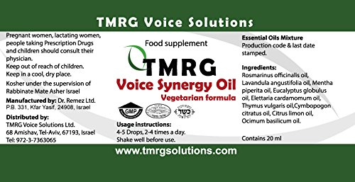 TMRG Emergency Vocal Recovery KIT (Powder +Classic + Synergy +Clip) Professional Vocal Cord Remedy 100% Natural Herbal Voice Supplement (30ml Drops + 85gr Powder + 20ml Oil +Clip) by TMRG Solutions (Image #8)