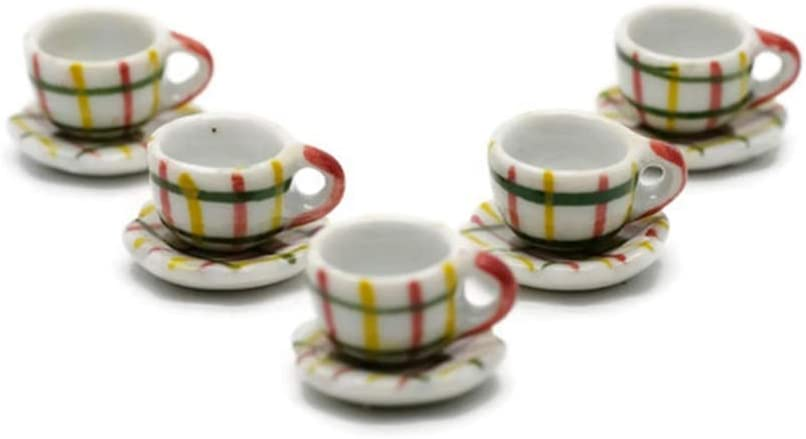 5 Scot Coffee Mug Tea Cup Dollhouse Miniatures Food Kitchen by Cool Price