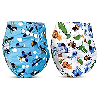 NOVABEBÉ Cloth Diapers Reusable Diapers Baby Diapers Swim Diapers Pañales Ecologicos Lavables Babies Toddlers 8 –36 lbs For boys) Reusable Diapers WITHOUT INSERT