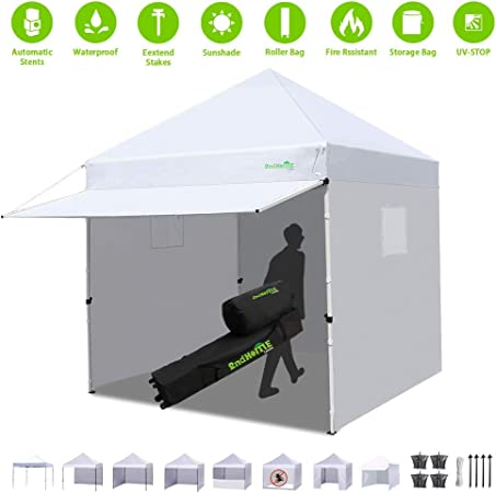 Amazon Com Canopy Tent Pop Up Tent Canopy Canopy Tent 10x10 Heavy Duty With Sidewalls Weight Bags Roller Bag Canopy Tent Garden Outdoor