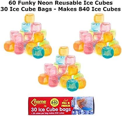 60 cubos de hielo reutilizables y 30 bolsas de hielo para ...