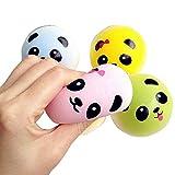 Eworld 2-Pcs Squishy Panda Toy - Colorful Jumbo Bread Slow Rising Kawaii Soft Cute Hand Pillow Toy Gift Keychains