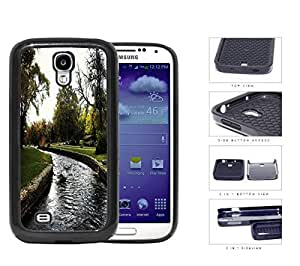 Park And Stream Fall Season Scene 2-Piece Dual Layer High Impact Rubber Silicone Cell Phone Case Samsung Galaxy S4 SIV I9500