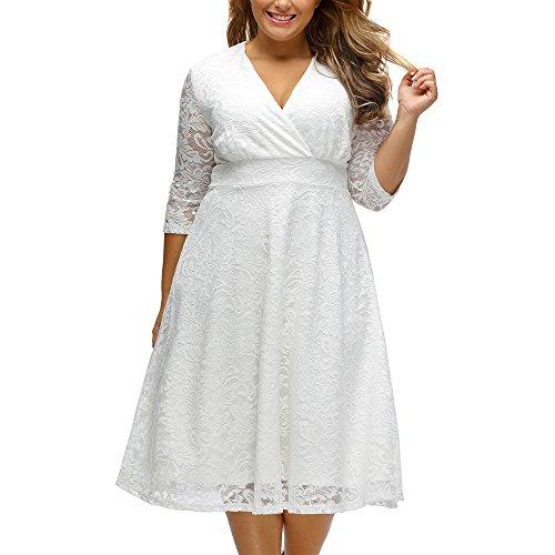 SEBOWEL Lace Plus Size Mother of the Bride Skater Dress Bridal Wedding Party