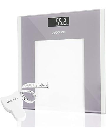 Cecotec Báscula de baño digital Surface Precision 9100 Healthy Plataforma de cristal de alta seguridad,