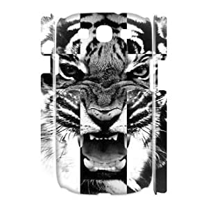 Cross Roar Tiger Cheap Custom 3D Cell Phone Case Cover for Samsung Galaxy S3 I9300, Cross Roar Tiger Galaxy S3 I9300 3D Case