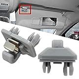 2010 audi sun visor - KingFurt 2 Pcs Gray Sun Visor Clip For Audi A1 A3 A4 A5 S3 S4 S5 Q3 Q5 8E0857562A 8E0857561