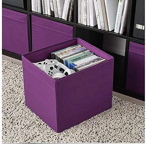 IKEA Drona - Caja, 33 x 38 x 33 cm, color morado: Amazon.es: Hogar