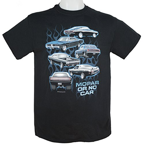 Plymouth Barracuda, Road Runner, Duster & Dodge Charger Muscle cars - T-Shirt - Black