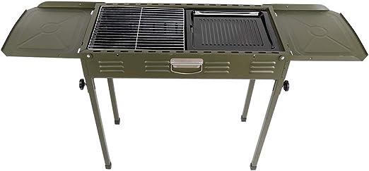 Estink Grill à charbon pliable, grille de jardin, barbecue