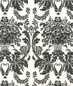 - Specialty Black and French Vanilla Damask Tissue Paper - 20in.x30in. - 20/Sheets