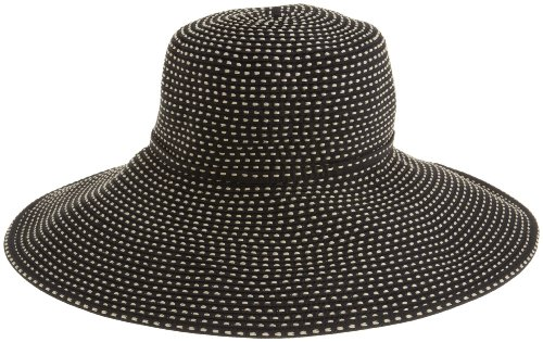 San Diego Hat Company Women's Ribbon Braid Hat With 5 Inch Brim,Black,One Size ()