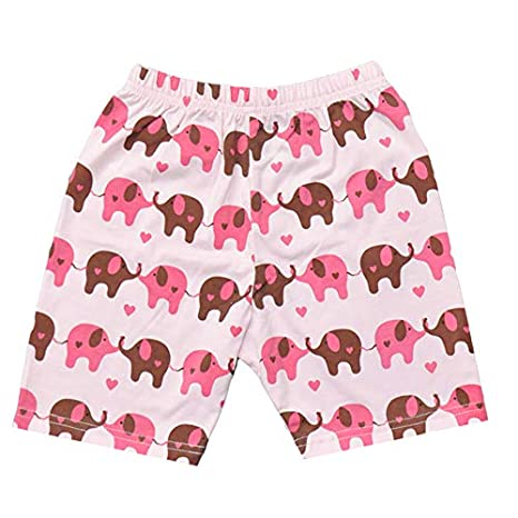 CM-Light Little Girls Pajamas Summer Short Sleeve Toddler Clothes Cotton Sleepwear 2 Pieces Kids Pjs 1-7 Years