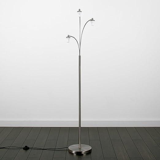 3 way floor lamp. Modern Designer Style 3 Way Brushed Chrome Floor Lamp Base 9